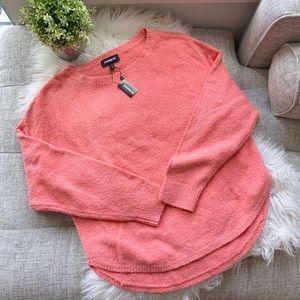 Express Pink Chenille Sweater | Medium